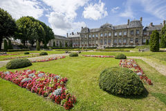 Palace and garden in Soissons Royalty Free Stock Photo