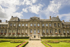 Palace and garden in Soissons Royalty Free Stock Images