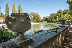 Palace gardens. In Aranjuez, by the river Royalty Free Stock Photography