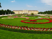 Palace and Gardens of  Schonbrunn in Vienna, Austria. Stock Image