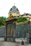 Palace gate. Palace and gate - Paris Royalty Free Stock Photography