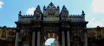 Palace gate. Gates of the palace Dolmabahce - Istambul, Turkey Royalty Free Stock Images