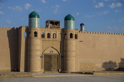 Palace gate. In the citadel of the city of Khiva, Uzbekistan Royalty Free Stock Photo