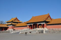 Palace gate in the Forbidden City Royalty Free Stock Images