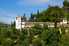 Palace of Generalife, Granada, Spain Royalty Free Stock Image
