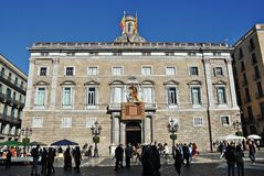 Palace of the Generalitat of Catalonia Stock Photography