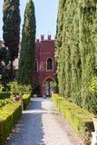Palace in Giusti Garden in Verona city in spring Stock Images