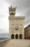 Palace of government in San Marino Stock Photos