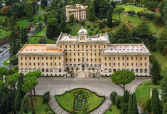 Palace of the Governorate of Vatican City State. Royalty Free Stock Images