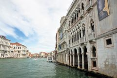 Palace on the Grand Canal in Venice Stock Image
