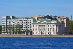 Palace of the grand duke Nikolay Nikolaevich on Petrovskaya embankment in St. Petersburg, Russia stock photo