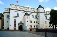 Palace of the Grand Dukes of Lithuania in Vilnius city Stock Image