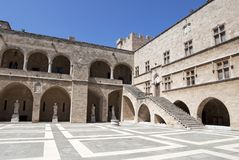 Palace of the Grand Master of the Knights courtyard Stock Image