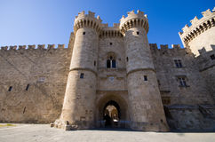 Palace of the Grand Master of the Knights of Rhodes - Greece. Palace of the Grand Master of the Knights of Rhodes, Greece stock photography