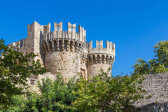 Palace of the Grand Master of the Knights of Rhodes. Palace of the Grand Master of the Knights in Rhodes, Greece Royalty Free Stock Photography