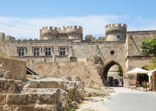 Palace of the Grand Master of the Knights of Rhodes, Greece. RHODES, GREECE - JUNE 7, 2015: Palace of the Grand Master of the Knights of Rhodes, a medieval Stock Image