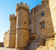 Palace of the Grand Master the Knights Rhodes, a medieval castle the Hospitaller on the island , Greece. royalty free stock photography