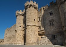 Palace of the Grand Master of the Knights of Rhodes. Island Greece Royalty Free Stock Image