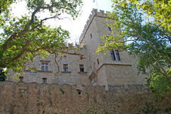 Palace of Grand Master in medieval Old Town of Rhodes royalty free stock images