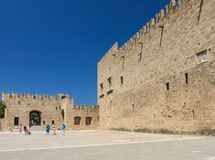 Palace of the Grand Masters. Old Town. Rhodes Island. Greece Royalty Free Stock Photos