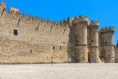 Palace of the Grand Masters. Old Town. Rhodes Island. Greece Stock Photos