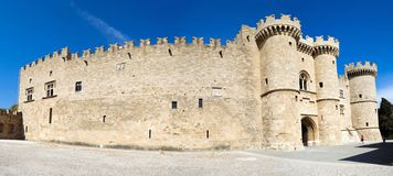 The Palace of the Grand Masters in Rhodes is also called the castle of Castello. stock photography