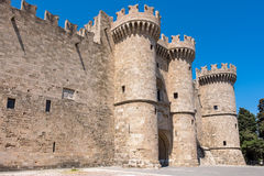 Palace of the Grand Masters. Rhodes, Greece Royalty Free Stock Photos