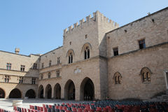 The Palace of Grand Masters, Rhodes, Greece Stock Photography