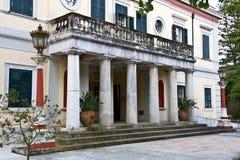 Palace in Greece at Corfu. Mon Repo palace in Corfu island, Greece Stock Photo
