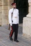Palace Guard, Malta. royalty free stock photos