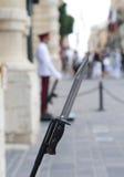 Palace Guards bayonet Malta stock image