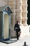 Palace Guard, Valletta , Malta Royalty Free Stock Photos