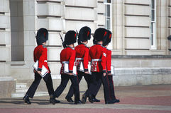 Palace Guards. Buckingham Palace guards in London, England royalty free stock photo