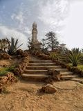 Palace of guests. Guests at the main park in the city of Alexandria are within walking distance of the sea Royalty Free Stock Images
