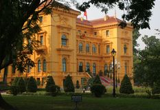 Palace Hanoi del Presidente Fotografia Stock