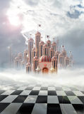 Palace of hearts. Palace of queen of hearts in wonderland Royalty Free Stock Photography