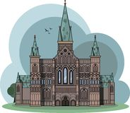 Palace on a heavenly background vector illustration