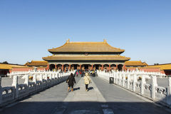 Palace of Heavenly Purity. The Palace of Heavenly Purity, or Qianqing Palace is  is the largest of the three halls of the Inner Court, located at the northern Royalty Free Stock Photography