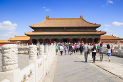 Palace of Heavenly Purity in Forbidden City. The Forbidden City was built in 1420,it remain intact through the Ming and Qing dynasty.Both in Ming and Qing Royalty Free Stock Photo