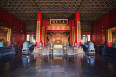 Palace of Heavenly Purity interior. The interior of Palace of Heavenly Purity in Forbidden City.the Forbidden City was built in 1420,it remain intact through the Stock Photography