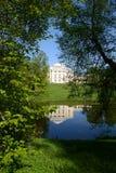 Palace on hill in Pavlovsk park Royalty Free Stock Photo