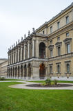Palace in the Hofgarten garden Royalty Free Stock Photo
