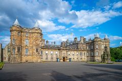 The Palace of Holyrood house in Edinburgh. The Palace of Holyroodhouse commonly referred to as Holyrood Palace, is the official residence of the British monarch royalty free stock photography