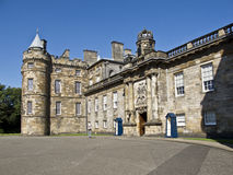 The Palace of Holyroodhouse in Edinburgh, Scotland. The Palace of Holyroodhouse, the official residence of the monarch in Scotland stock photos