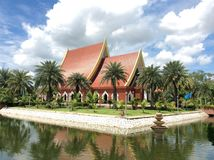 Palace that houses the Royal Monument of King Naresuan.อ Stock Image