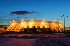 Palace of ice sports in  Russia Royalty Free Stock Photos