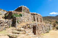 Palace of the Inca. Ancient Incan ruins on Isla del Sol on Lake Titicaca in Bolivia stock image