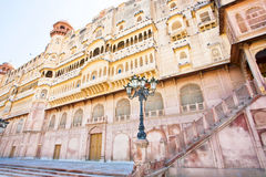 Palace of indian Maharaja in Bikaner Stock Photography