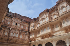 Palace inside Mehrangarh fort Royalty Free Stock Images