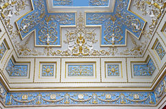Palace interior 3. Ceiling decoration. Hermitage museum also known as Winter Palace in St.Petersburg Stock Photos